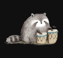 Raccoon on Bongos One Piece - Long Sleeve