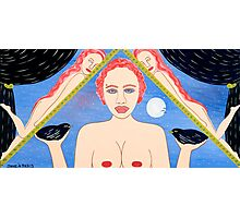 TWO AND ONE HALF NAKED WOMEN Photographic Print