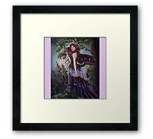Secret garden fairy tote bag Framed Print
