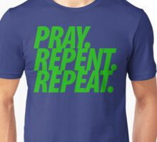 PRAY REPENT REPEAT GREEN Unisex T-Shirt