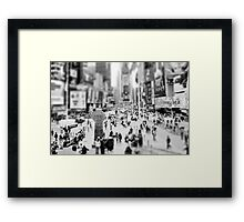On Times Square  Framed Print