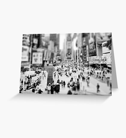 On Times Square  Greeting Card