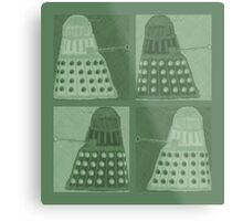 Daleks in negatives - green Metal Print