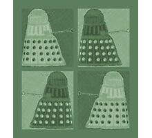 Daleks in negatives - green Photographic Print