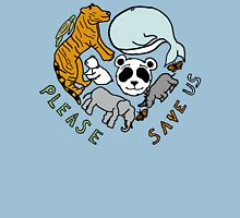 Please Save Us! Womens Fitted T-Shirt