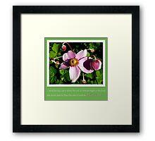 Take the risk to blossom Framed Print