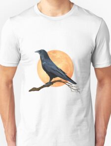 Full Moon Raven  T-Shirt