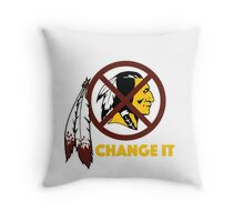 Change It: Redskins Throw Pillow