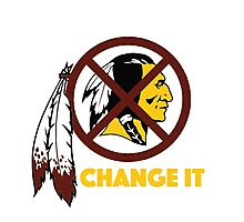 Change It: Redskins Photographic Print