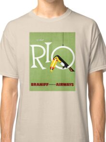 Rio Vintage Travel Poster Restored Classic T-Shirt