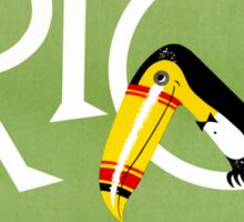 Rio Vintage Travel Poster Restored Sticker