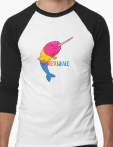 Pansexuwhale - with text Men's Baseball ¾ T-Shirt