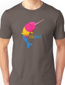 Pansexuwhale - with text Unisex T-Shirt