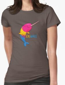 Pansexuwhale - with text Womens Fitted T-Shirt