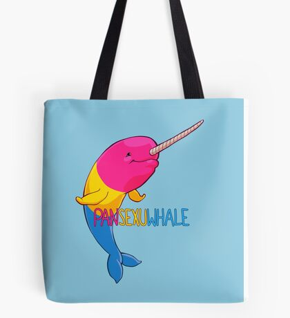 Pansexuwhale - with text Tote Bag