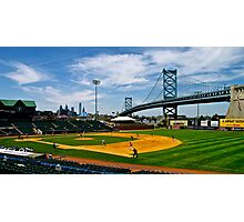 College baseball game at Campbell Field. Camden, New Jersey Photographic Print
