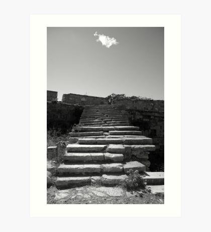 Steps to the cloud Art Print
