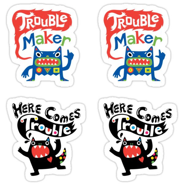 Stickers - Lotsa Trouble Makers by Andi Bird
