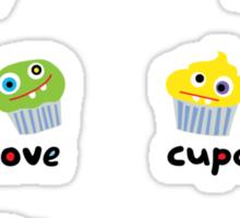 Stickers cupcakes crocodile & chick Sticker