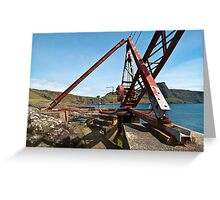Crane at Neist Point Greeting Card