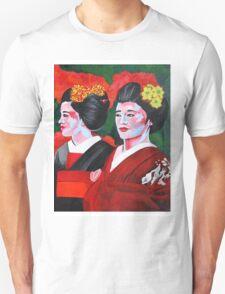 Geishas in the Garden Unisex T-Shirt