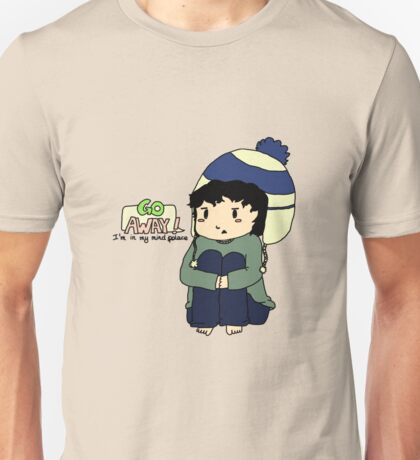 Teen Sherlock - Go Away! I'm in my mind palace! Unisex T-Shirt