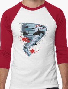 Shark Tornado - Science Fiction Shark Movie - Shark Attack - Shark Tornado Oh Hell No - Sharks! Men's Baseball ¾ T-Shirt