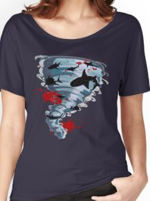 Shark Tornado - Science Fiction Shark Movie - Shark Attack - Shark Tornado Oh Hell No - Sharks! Women's Relaxed Fit T-Shirt