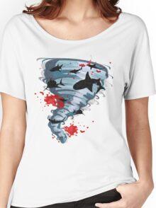 Shark Tornado - Science Fiction Shark Movie - Shark Attack - Shark Tornado Oh Hell No - Sharks! Women's Relaxed Fit T-Shirt