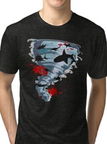 Shark Tornado - Science Fiction Shark Movie - Shark Attack - Shark Tornado Oh Hell No - Sharks! Tri-blend T-Shirt