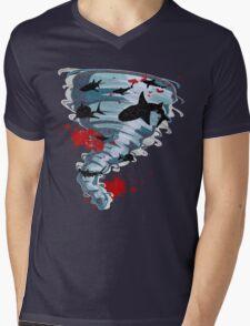 Shark Tornado - Science Fiction Shark Movie - Shark Attack - Shark Tornado Oh Hell No - Sharks! Mens V-Neck T-Shirt