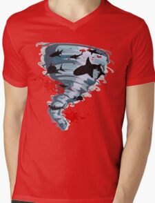 Shark Tornado - Science Fiction Shark Movie - Shark Attack - Shark Tornado Oh Hell No - Sharks! Mens V-Neck T-Shirt