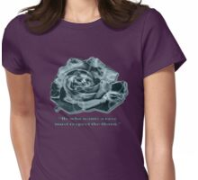 Teal Rose Womens Fitted T-Shirt