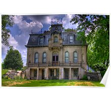 Matthews Mansion - Ellettsville, IN Poster
