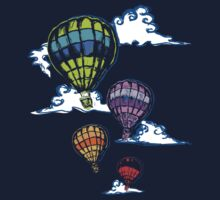 Hot-air Balloons in the Evening  by fixtape