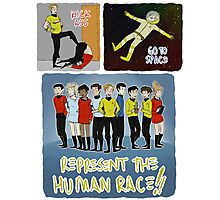 kick ass go to space represent the human race Photographic Print