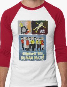 kick ass go to space represent the human race Men's Baseball ¾ T-Shirt
