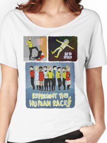kick ass go to space represent the human race Women's Relaxed Fit T-Shirt