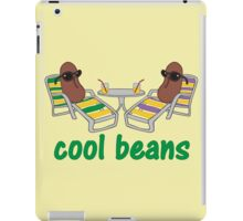Funny Cool Beans in Beach Chairs and Shades iPad Case/Skin