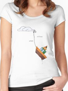 Drifting with the tide of the sky Women's Fitted Scoop T-Shirt