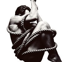 Man with rope by McVirn Etienne