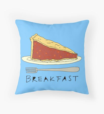 Pie for Breakfast Throw Pillow