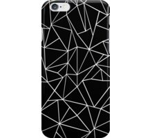 Abstraction Outline Black and white iPhone Case/Skin
