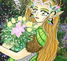 The Beautiful Elf-Druid  by MeghanLeVaughn