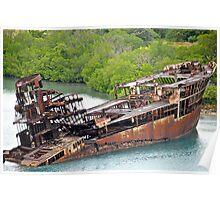 Ship wreck in Honduras Poster