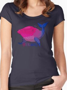 Bisexuwhale - with text Women's Fitted Scoop T-Shirt