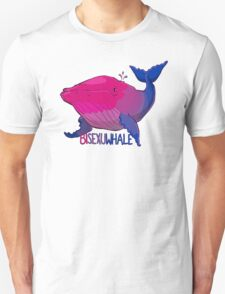 Bisexuwhale - with text Unisex T-Shirt