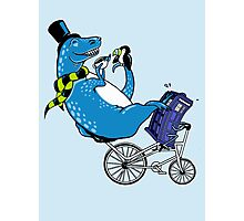 Tandem T-Rex with Toucan and Tea while Tardis Toils Photographic Print