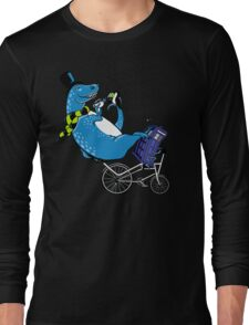 Tandem T-Rex with Toucan and Tea while Tardis Toils Long Sleeve T-Shirt