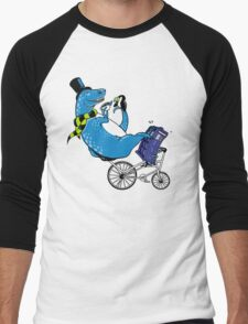 Tandem T-Rex with Toucan and Tea while Tardis Toils Men's Baseball ¾ T-Shirt